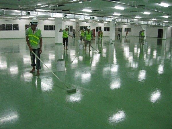 Dịch vụ thi công sơn sàn công nghiệp