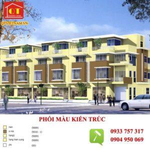 Công trình QT Việt Nam phối màu kiến trúc và thi công sơn
