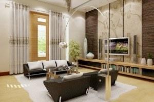 Sơn trang trí tường phòng khách